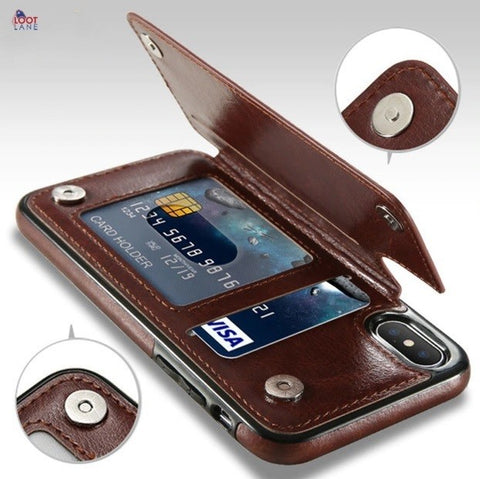 Retro Leather Case For Samsung Galaxy
