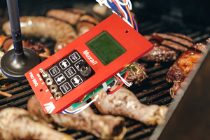 Muxall Pro BBQ Controller on Pellet Grill