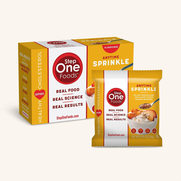 Front view of the Anytime Sprinkle Box of 12 and a single package