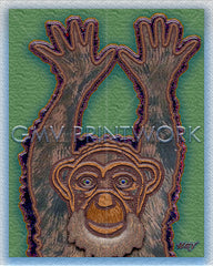C is For Chimpanzee | GMV PRINTWORK | Etsy Store