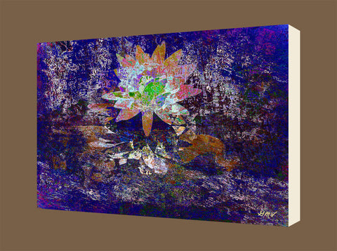 Wall Art Reflective Lotus 2 on canvas - GMV PRINTWORK