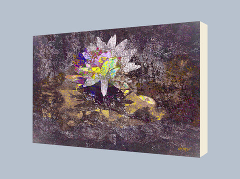 Wall Art Reflective Lotus 3 on canvas