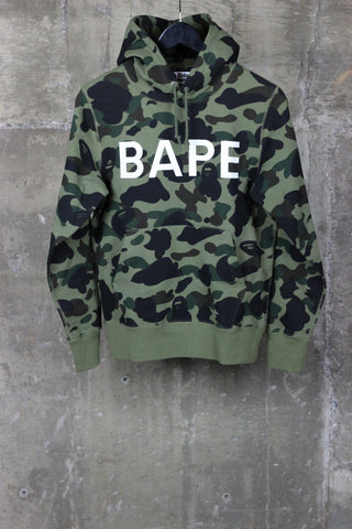 A Bathing Ape Hooded Sweatshirt Green Camo