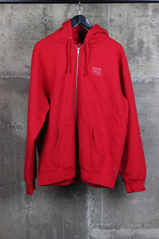 751534dc3 Supreme Sleeve Script Sideline Jacket Navy.  320. View. Supreme World  Famous Zip Up Hooded Sweatshirt Red