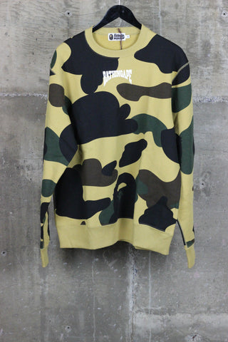 A Bathing Ape WGM Crewneck Yellow Camo