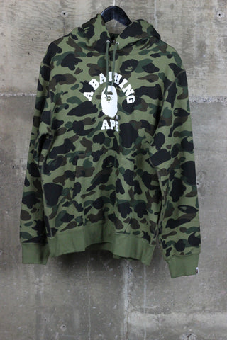 A Bathing Ape Hooded Pullover Green Camo