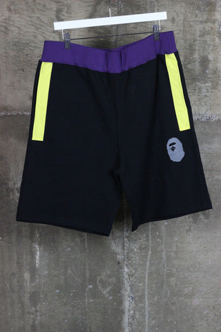 A Bathing Ape Shorts Black/Purple/Yellow