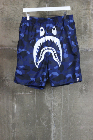 A Bathing Ape Beach Short Blue Camo