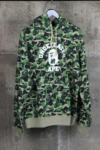 A Bathing Ape x Undefeated Hooded Sweatshirt Green Camo