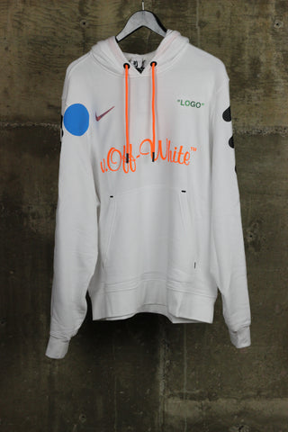 Nike x Off-White Hooded Sweatshirt White