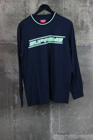Supreme Bevel L/S Top Navy