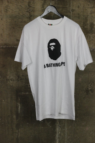 A Bathing Ape Embroidered White/Black Tee