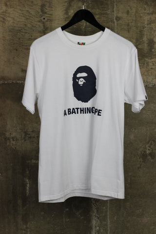 A Bathing Ape Summer Tee Embroidered Navy