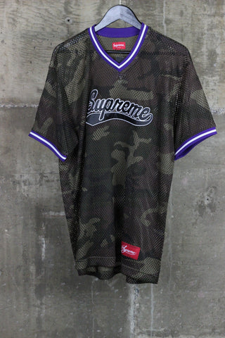 Supreme Mesh Baseball Top Woodland Camo