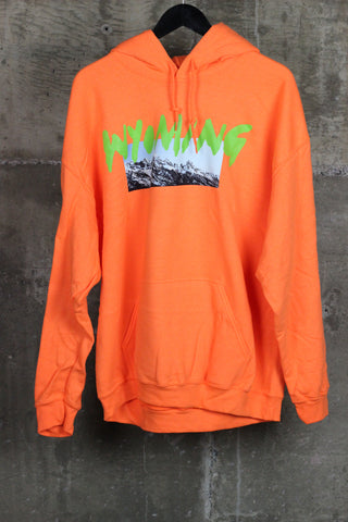 Kanye West Wyoming Merch Hooded Sweatshirt Orange