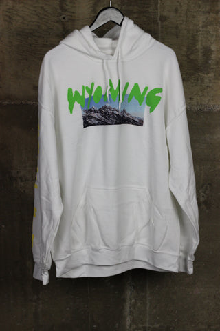 Kanye West Wyoming Merch Hooded Sweatshirt White