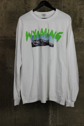 Kanye West Wyoming Merch L/S White