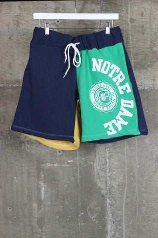 The Gateway District Vintage Reworked Sweat Short Notre Dame