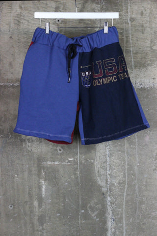 The Gateway District Vintage Reworked Sweat Short Olympic