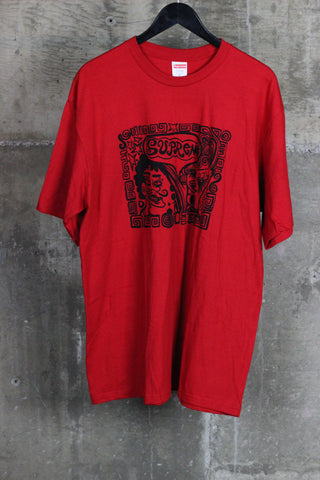 Supreme Faces Tee Red