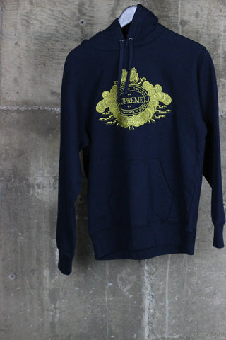 Supreme Love Or Hate Hooded Sweatshirt Navy