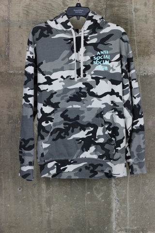 Anti Social Social Club Grey Camo Hooded Sweatshirt