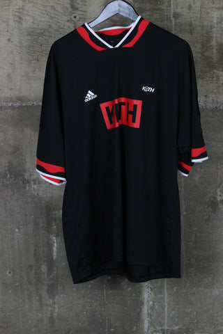Kith x Adidas Soccer Jersey Black / Red