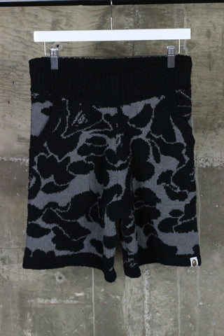 A Bathing Ape Towel Shorts Black