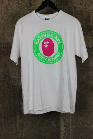 A Bathing Ape Busy Works Tee White