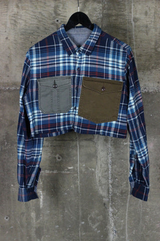 The Gateway District Reworked Flannel Blue