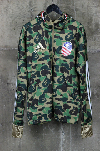 A Bathing Ape x Adidas Full Zip Shark Face Hoodie