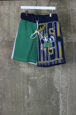The Gateway District Vintage Reworked Notre Dame Sweat Short
