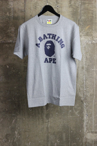A Bathing Ape Bicolor College Tee Gray