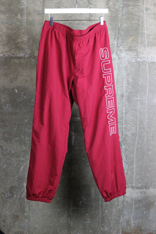 Supreme Split Track Pants Red