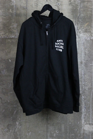 Anti Social Social Club Zip-up Black