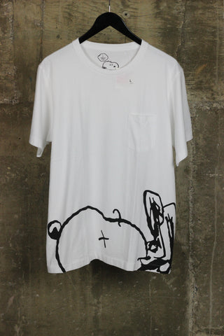 KAWS x Peanut Uniqlo Pocket Tee White