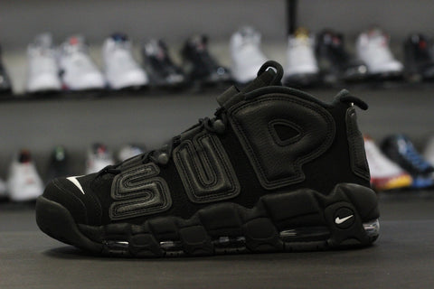 Nike x Supreme Air More Uptempo Black