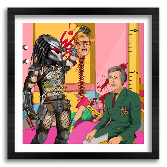Alan Vs Predator Art Print
