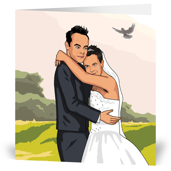 Mr & Mrs Ant & Dec Greeting Card