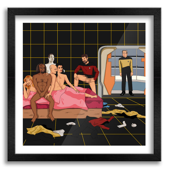 Awkward Star Trek Orgy Art Print