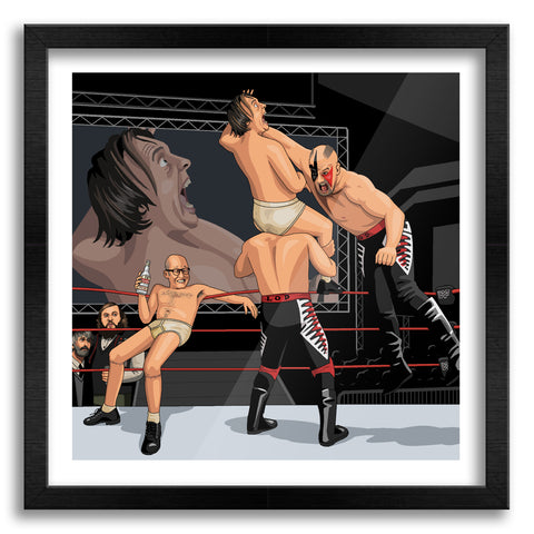 Eddie and Richie vs Legion of Doom Art Print