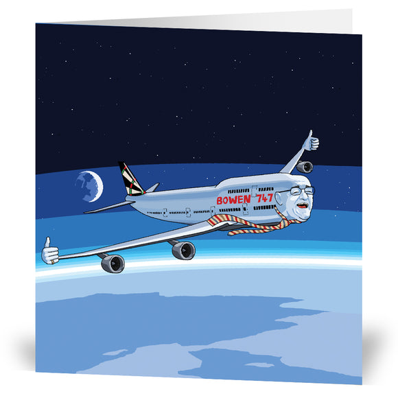 Jim Bowen 747 Greeting Card