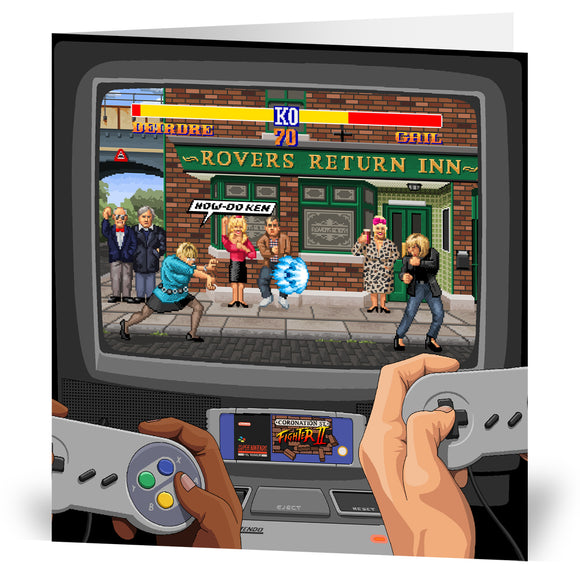 Coronation Street Fighter II Greeting Card