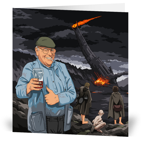 Dibnah V Sauron Greeting Card