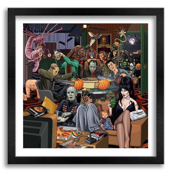 80s Halloween Party Art Print