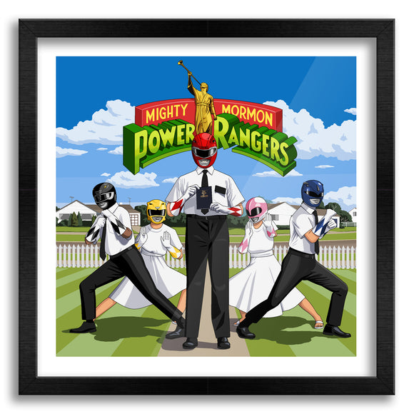 Mighty Mormon Power Rangers Art Print
