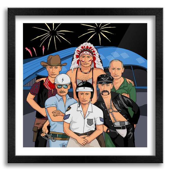 Village People Putin Art Print