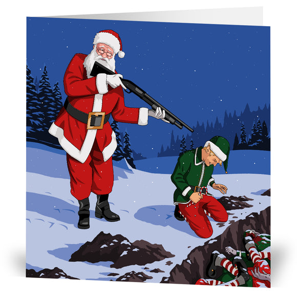 Elf Cull Christmas Card