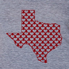 Texas hearts Women's Tee