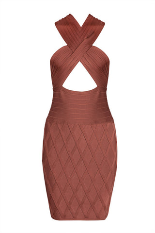 Cut Out Backless Sexy Bodycon Bandage Dress